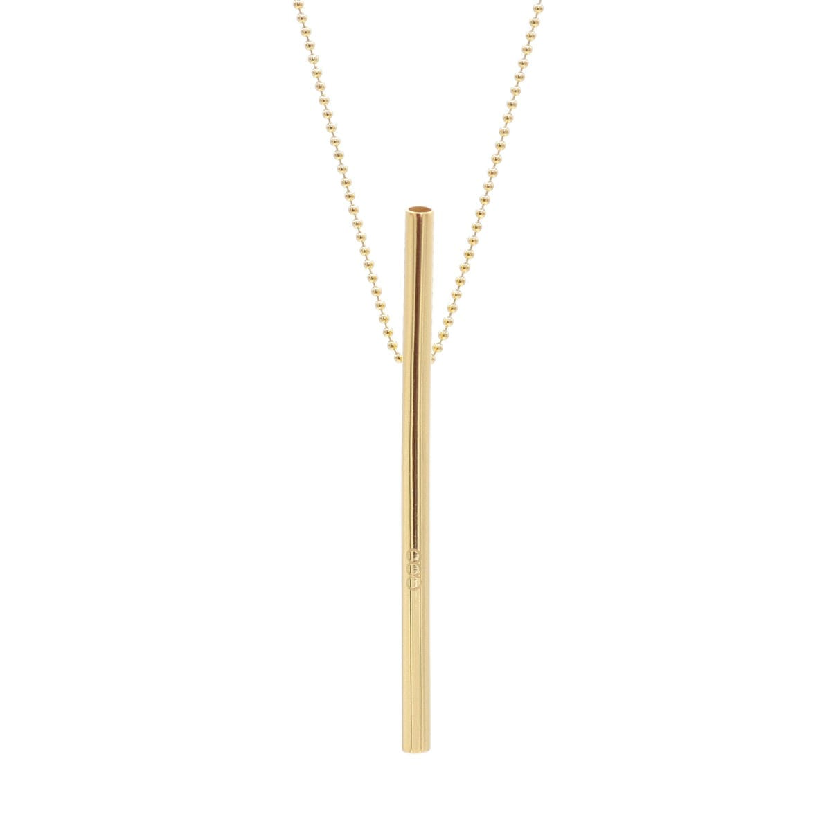 OOVO gold vocal straw phonation necklace